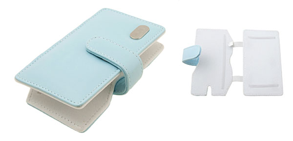 Baby Blue Leather Case Bag for Nintendo DS NDS Lite