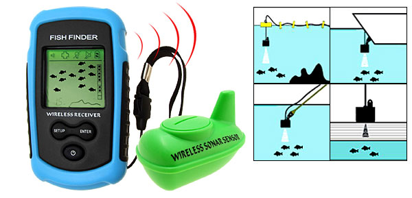 Portable Wireless Sonar  Fishing Fish Finder Fishfinder