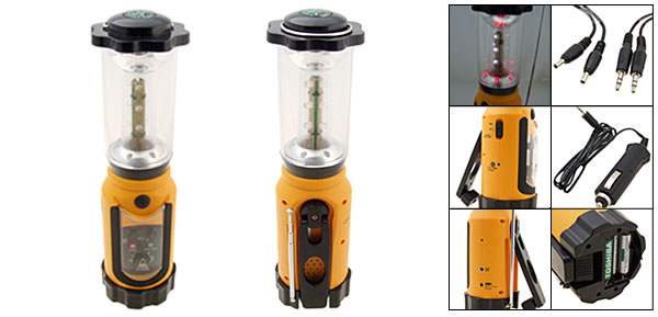 7-in-1 Hand Crank Flashlight and Lantern - The Happy Camper