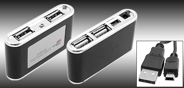 4 Ports High Speed USB 2.0 Hub
