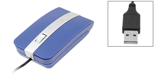 Wired Notebook Laptop Computer USB PS/2 3D Blue Optical Mouse
