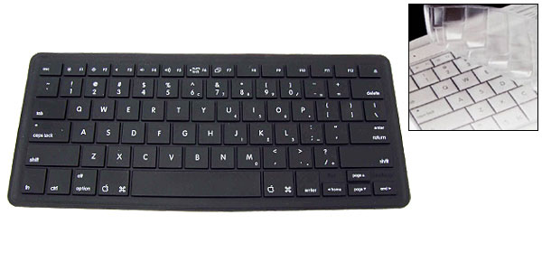 Black Notebook Keyboard Silicon Skin Protector for AppleML-1025a Series