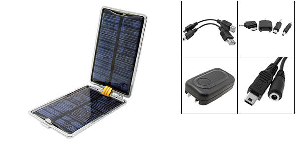 US Plug AC100-240V Folding Emergency Solar Charger for Cell Phone PDA MP3 MP4