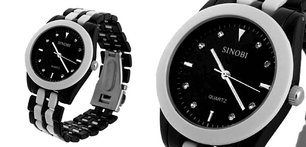 Fashion Jewelry Steel Band Round Men's Quartz Wrist Watch
