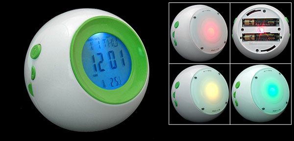 Charming Office Desk Night Light Calendar Alarm Clock