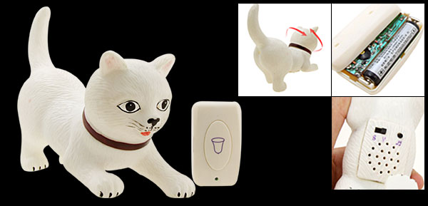 Creative Animal Motion Wireless Sound Doorbell Cute Cat