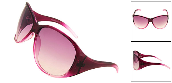 Fashion Purple Sun Glasses Ladies Sunglasses