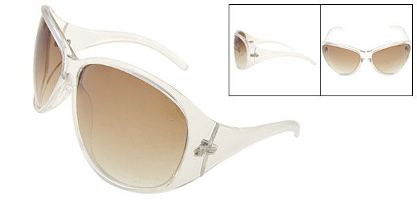 Fashion Transparent Sunglasses Oversized Ladies Sun Glasses