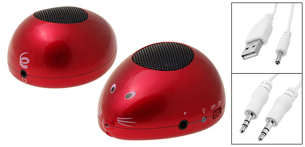 Small Box Red Built-in Lithium Battery Mouse MP3 Speakers
