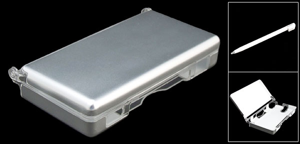 Silvery Crystal Hard Plastic Case for Nintendo DS Lite