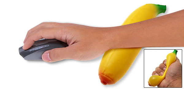 Banana Mouse Hand Wrist Rest Supporter Yellow