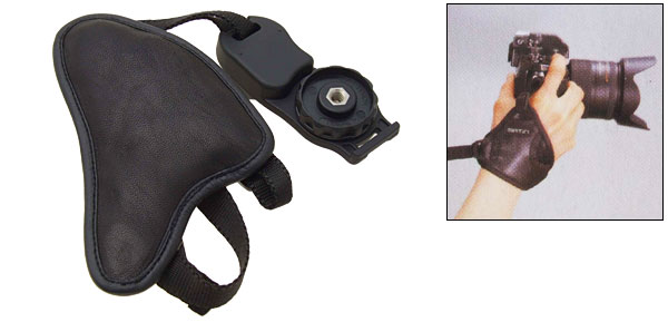 Leather Hand Grip Strap for SLR Camera Nikon Canon Minolta