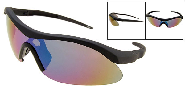 Cool Tinted Lens Black Frame Motorcycle Sport Men Sunglasses