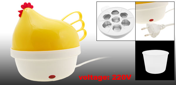 EU Plug 220VAC Hen Electric 7 Egg Cooker Boiler Steamer Machine