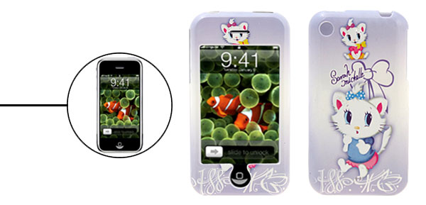 Aristo Cat Pattern Cartoon Plastic Case for iPhone 1st Generation