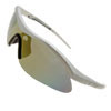 Man\'s Silvery Frame Tinted Lens Golf Specific Sport Sunglasses