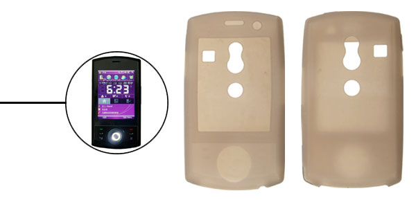 Cell Phone Silicone Skin Gray Case for HTC Touch Cruise Dopod P860