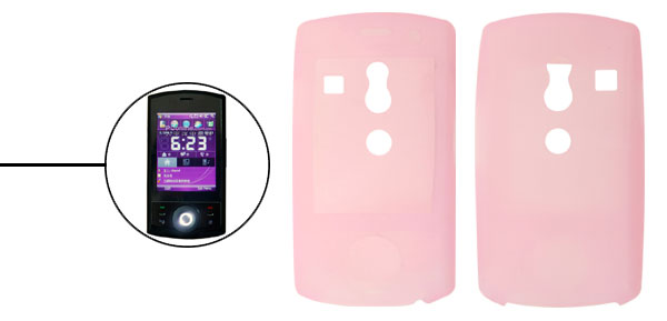 Creative Silicone Skin Case for HTC Touch Cruise Dopod P860 Pink