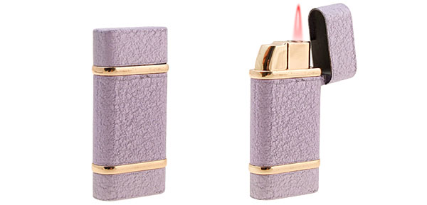 Windproof Purple Cigarette Lighter Windproof Electronic Ignition