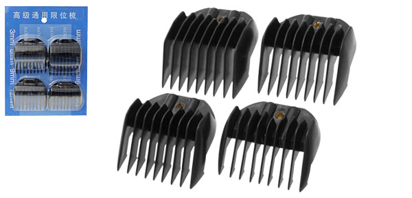 Plastic 4 Haircut Clipper Guider Combs Kit