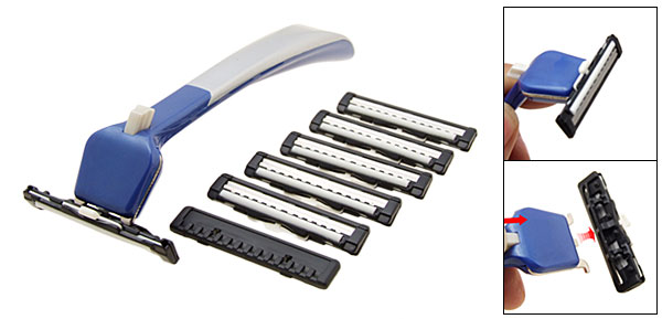 Portable Travel Man Shaver Razor  Kit 6 Blades (BP206)