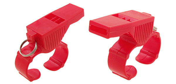 Red Plastic Coach Referee Sports Finger Whistle