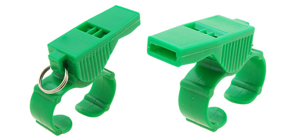 Plastic Sports Referee Finger Whistle Green