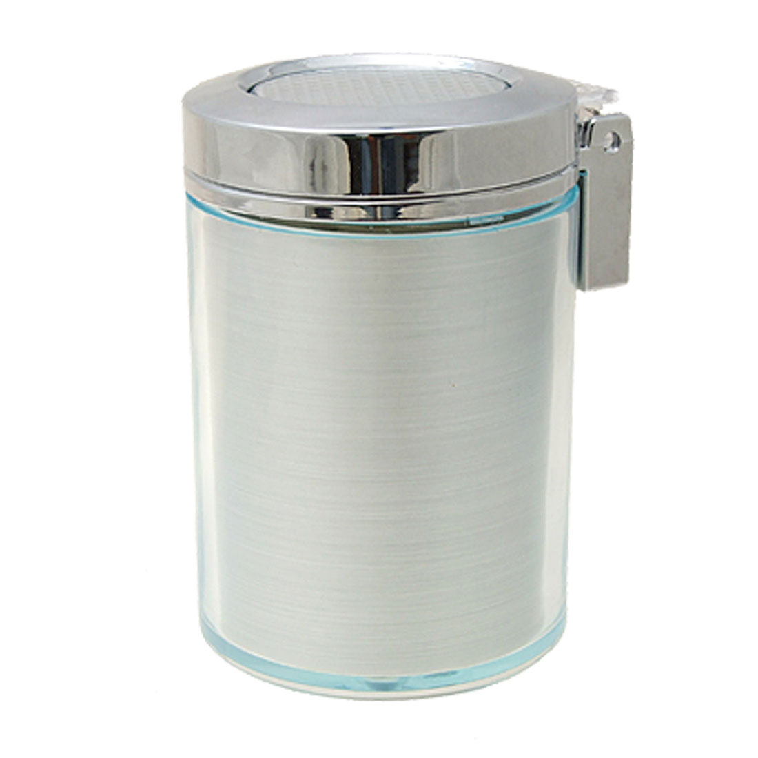 Silver-Tone-Cylinder-Shaped-Pure-Smokeless-Smoke-Ashtray-Purifier