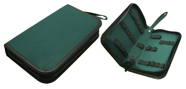 Green Canvas Zipper Tool Bag Organizer with Hand Strap