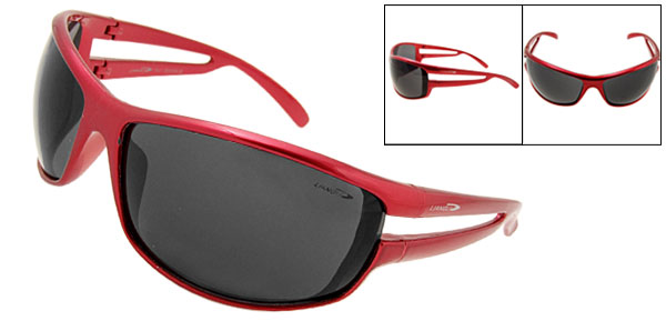 Sunny Shades Black Lens Red Frame Sport Woman Sunglasses