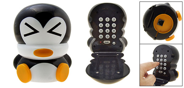 New White and Black Penguin Cartoon Home Telephone Phone