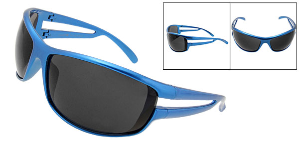 Sunny Shades Black Lens Blue Frame Sport Woman Sunglasses