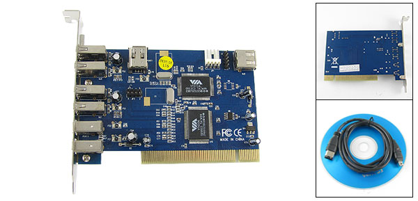 Desktop Computer 4 USB + 2 Port IEEE 1394 PCI Combo Card