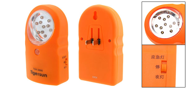LED Super Capacity Emergency Lamp Flashlight Torch Orange