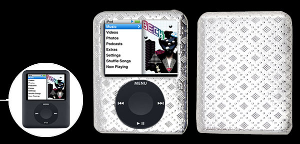 Stylish Silver Hard Plastic Case for iPod Nano 3rd Generation 3G