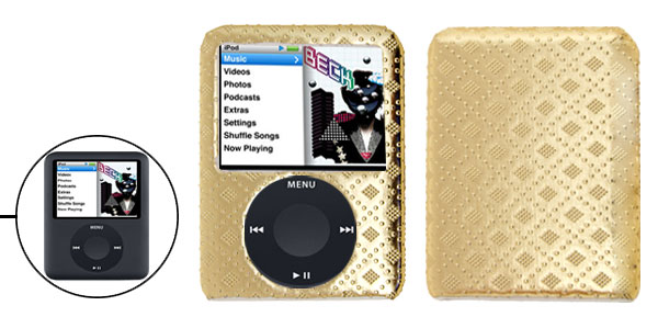 Stylish Golden Hard Plastic Case for iPod Nano 3rd Generation 3G
