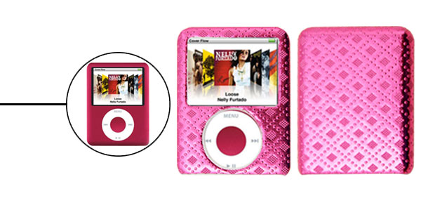 Stylish Rosered Hard Plastic Case for iPod Nano 3rd Generation 3G