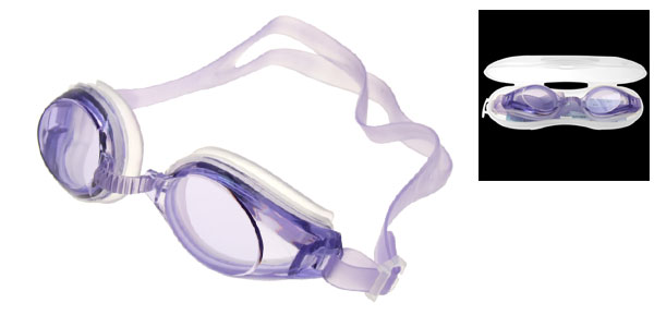 Silicone Swimming Pool Swim Purple Goggles Anti Fog
