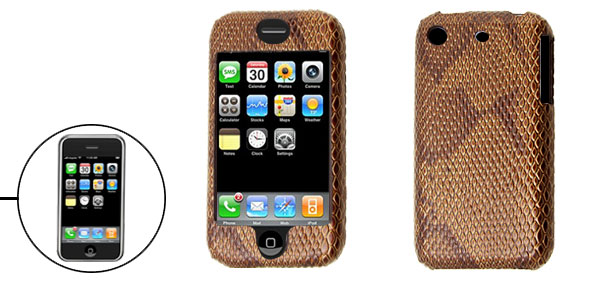 Man-made Snake Leather Plastic Hard Case for Apple iPhone 1st Generation