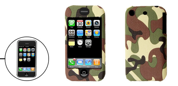 New Camouflage Leather Plastic Hard Case Cover for Apple iPhone 1st Generation