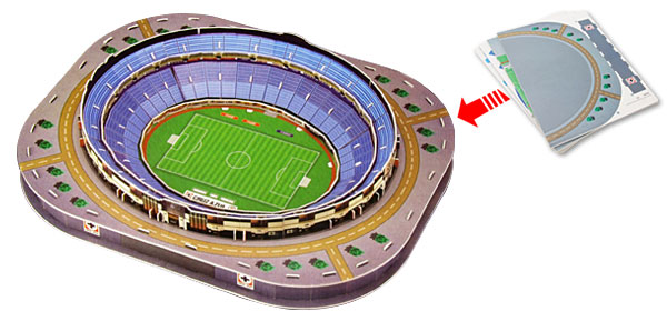 New 3D Puzzle Estadio Azul Mexico Children Educational DIY Toys