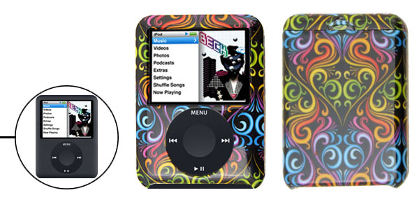 Stylish Multicolor Hard Plastic Case for iPod Nano 3rd Generation 3G