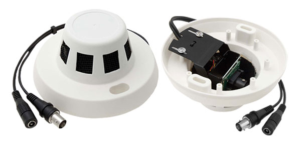 Color CCD PAL Video Security Camera Monitor White Cap