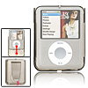 Slip Clear Gray Plastic Case for iPod Nano 3rd Generation with Clip