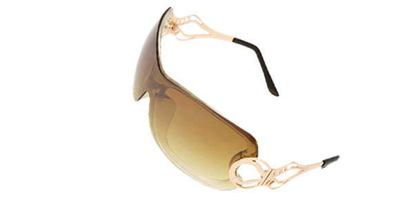 Transparent Brown Stylish Ladies Women Cool Sports Sunglasses