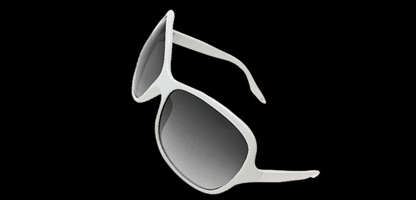 Girl Ladies Eyewear White Frame Sports Sunglasses