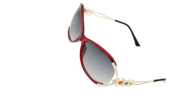 Red Frame Unisex Eyewear Girl Sports Sunglasses