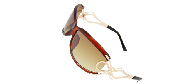 Unique Brown Frame Ladies Women Sports Sunglasses