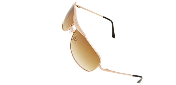 Golden Metal Frame Unisex Eyewear Sports Sunglasses