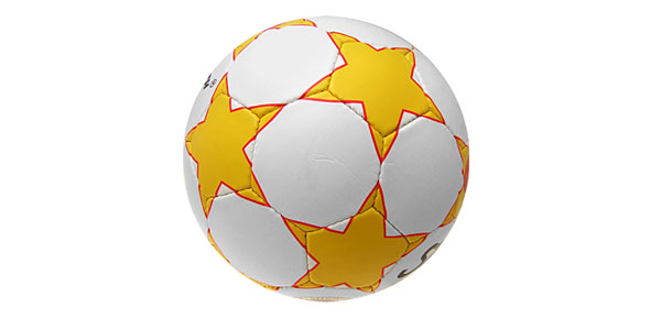 Official Leather Size 5 Soccer Ball Football White and Yellow